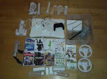 Wii+ Manettes+ Jeux+ Wii Fit +accessoires