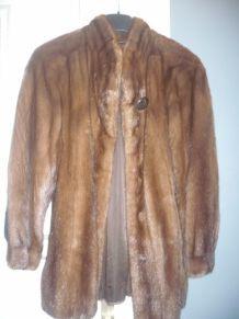 manteau en vison