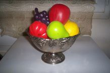 LOT DE FAUX FRUITS EN PLASTIQUE periode 1960/70