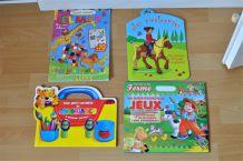 Lot de 5 livres de coloriage et d'activité pour les touts-petits