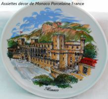 Assiettes Monaco De France