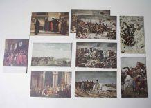 lot de 10 cartes postales vintage Napoléon