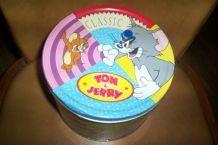 GROSSE BOITE TOM ET JERRY EN METAL ET RONDE
