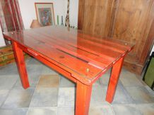 tables artisanales lasurées