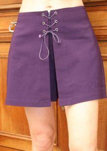 short jupe culotte sexy lacet violet T38-40