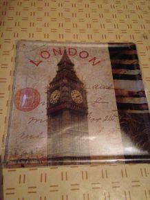Plaque en Métal Vintage : London - Big Ben