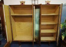 Armoire vintage 4 portes avec miroirs et 2 chevets