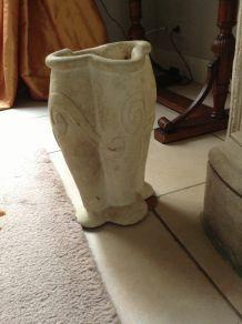 vase en grès ivoire