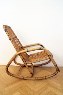 GRAND Rocking chair vintage 60's