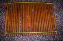 ANCIEN PLATEAU BAMBOU des années 1960 40 cm par 30 cm