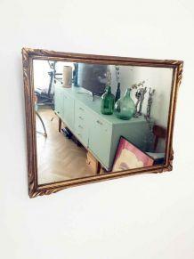 Miroir vintage doré 70's