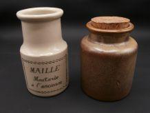 Anciens pots à moutarde