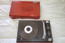 Tourne disques Brand des seventies rouge
