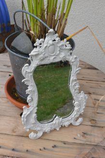 miroir baroque en métal