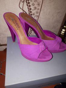 Chaussures  talons t37 fushia