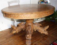 Table en chêne XIXème