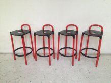 Paire de tabourets de bar Kartell design Anna Castelli Ferrieri