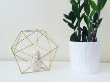 Déco en laiton / Forme hexagonale