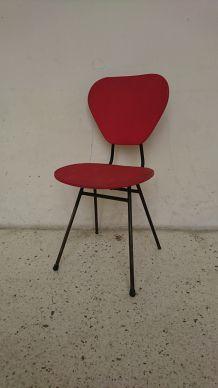 Chaise de type Jacques Hitier rouge