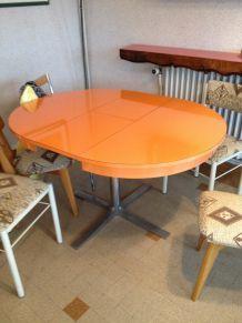 table repas formica orange 70's