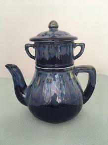 Théière trois pièces vintage en céramique
