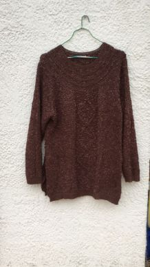 Pull long couleur marron Taille 46/48