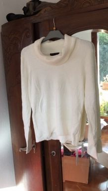 Pull blanc taille L (40)