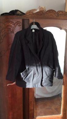 Manteau en laine Taille 48 Noir