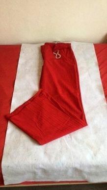 Pantalon de ville rouge taille 42