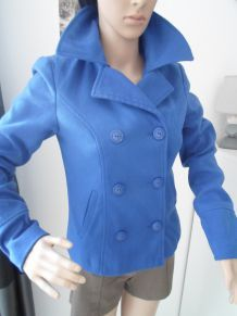 veste cardigan bleu