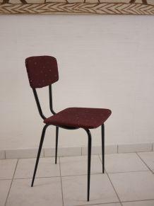 Chaise vintage wax prune