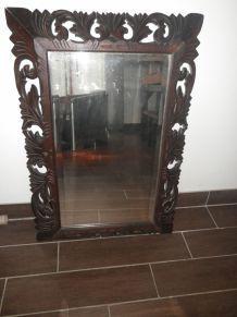 ancien grand miroir bizote