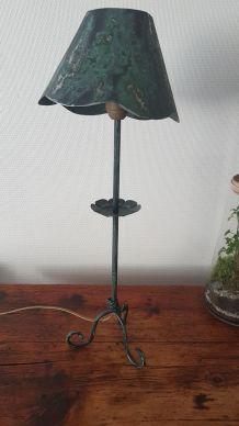 lampe en fer forgé