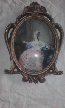 Peinture sur soie de Marie Antoinette