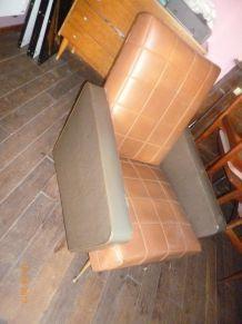 salon vintage skai canape 2 fauteuils 1960