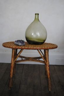 table basse rotin vintage