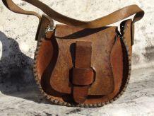 Sac à bandoulière Vintage Cuir Marron Vintage