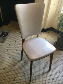 lot de 3 chaises vintage pieds compas années 70