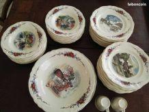 service porcelaine OBERNAI vaisselle alsacien 43 pieces