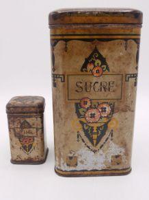 Boîtes anciennes en métal