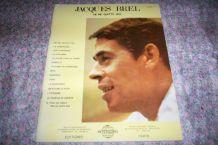 ancien album partitions musicales jacques Brel