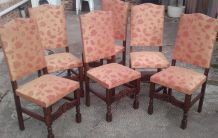 chaises en tissu