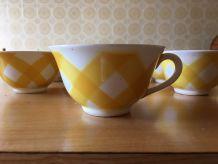 10 tasses DIGOIN Ecossais jaune