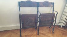 Banquette fauteuil cinéma vintage