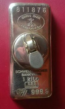 "Ancien Briquet Lingot "" SWISS BANK """