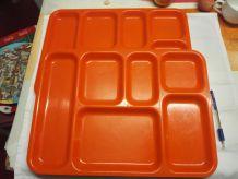 Plateau repas 1960/70 orange