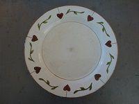 3 assiettes plates coeurs vintages