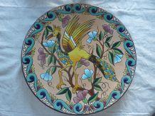 Plat mural poterie émaillee