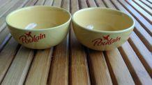 bols jaunes publicitaire chocolat POULAIN