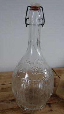 Bouteille en verre le vin du patron bouchon mecanique